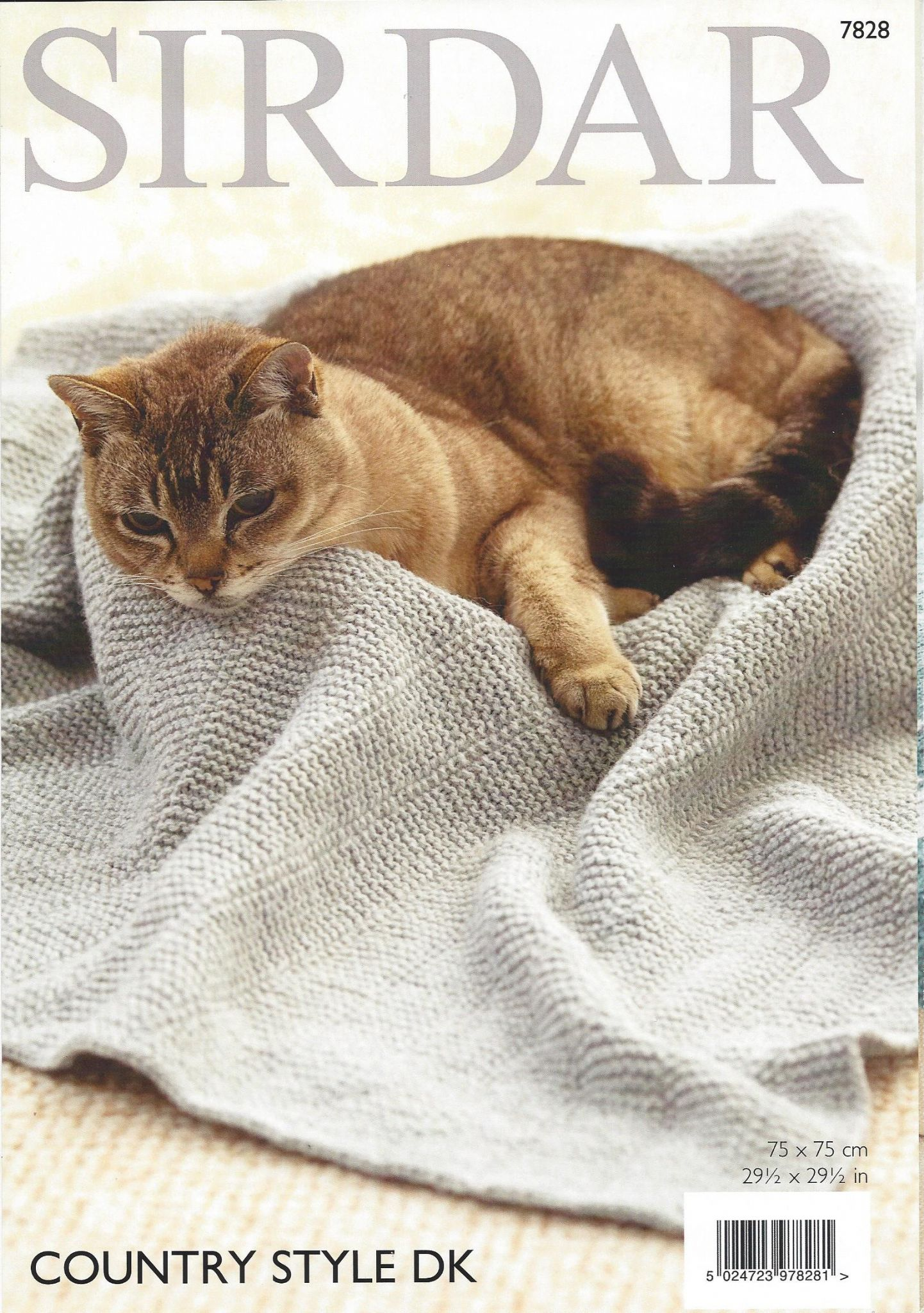 Sirdar Country Style DK - 7828 Cat Blankets Knitting Pattern